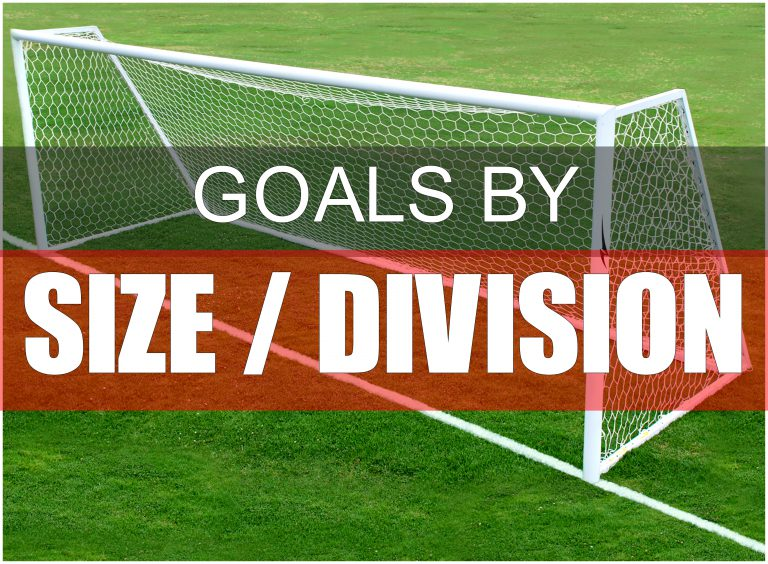AGORA Soccer Goals By Size & Division