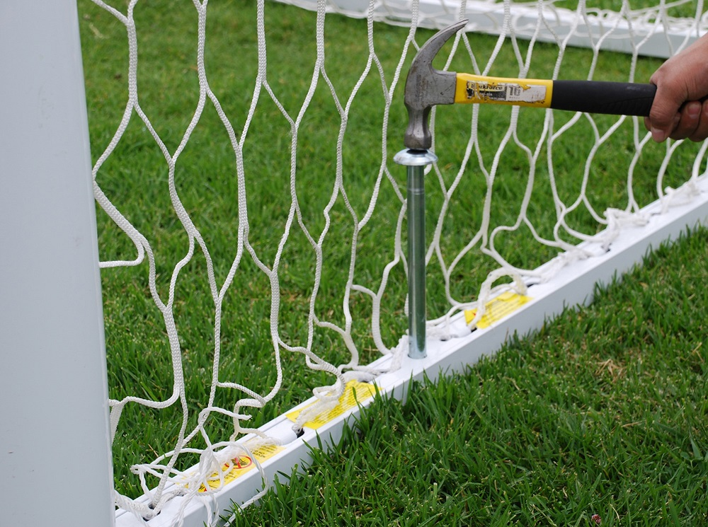 AGORA Euro Pro Soccer Goal - base with anchor nail
