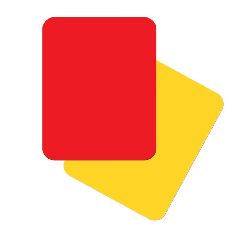 AGORA Referee Basic Red and Yellow Card Set